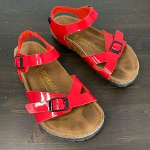 Kids Birkenstock red sandals